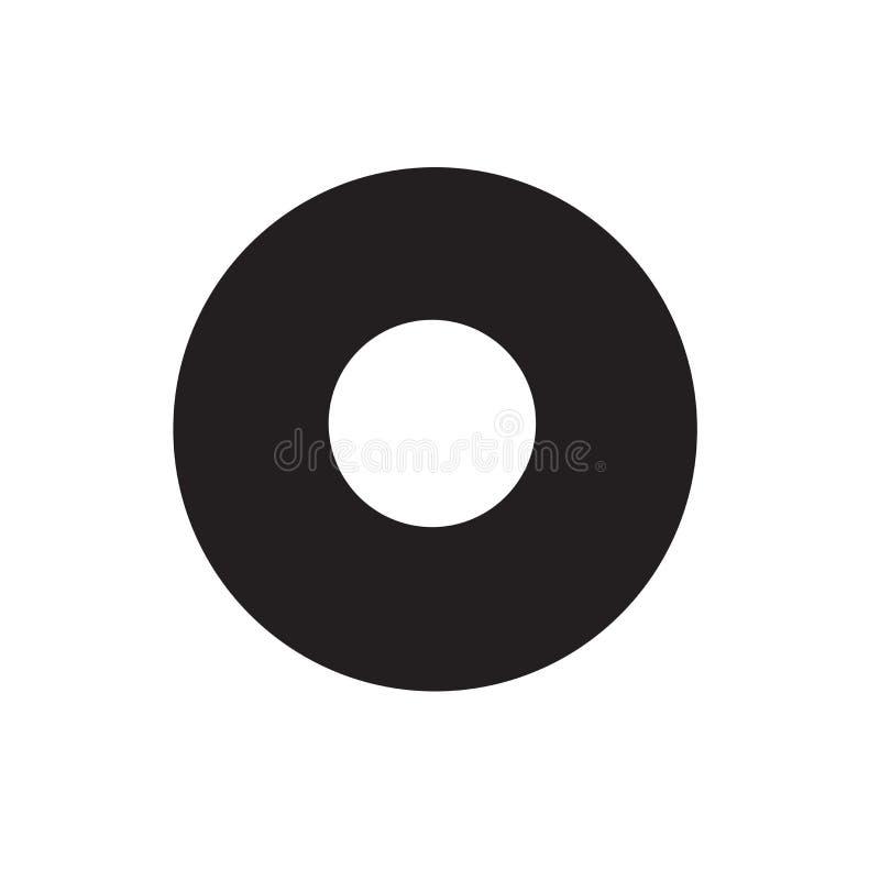 Kropki ikony wektoru znak i symbol odizolowywający na białym tle, kropka logo pojęcie royalty ilustracja