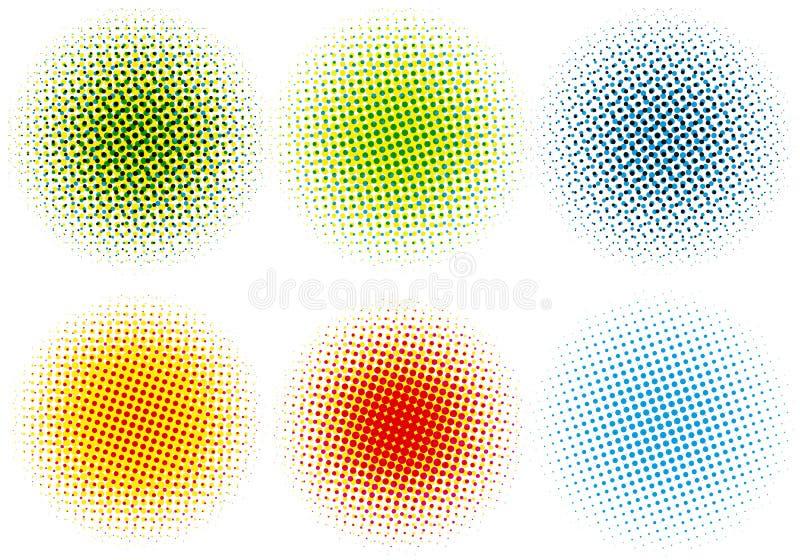 kropki kolorowy halftone ilustracji
