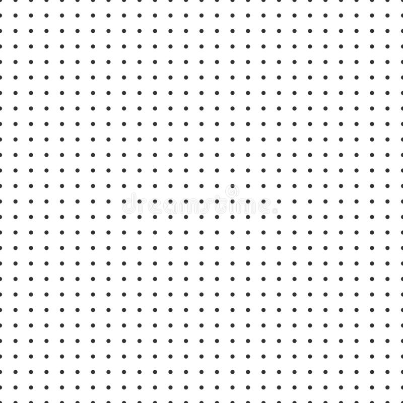 Kropki siatki wektoru papieru wykresu papier na białym tle ilustracja wektor