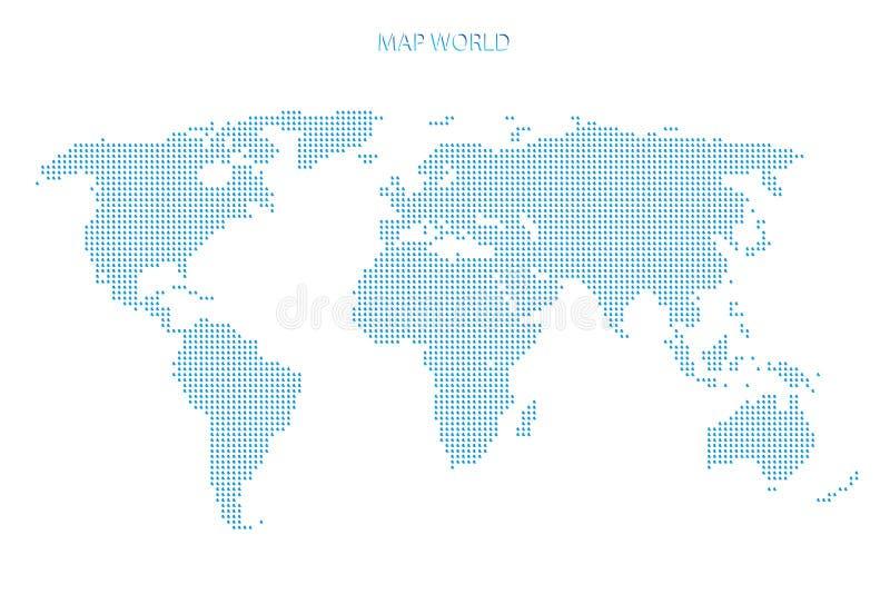 Kropkowana Światowej mapy szablonu podróż ilustracji