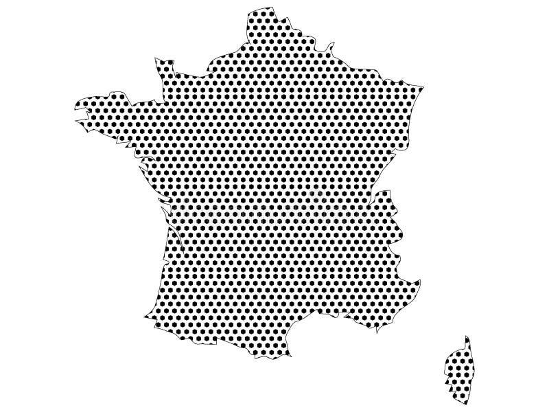 Kropkowana Deseniowa mapa Francja ilustracja wektor