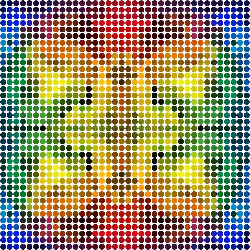 Kropkowana kolorowa tęczy mozaika (bezszwowy wzór) ilustracji