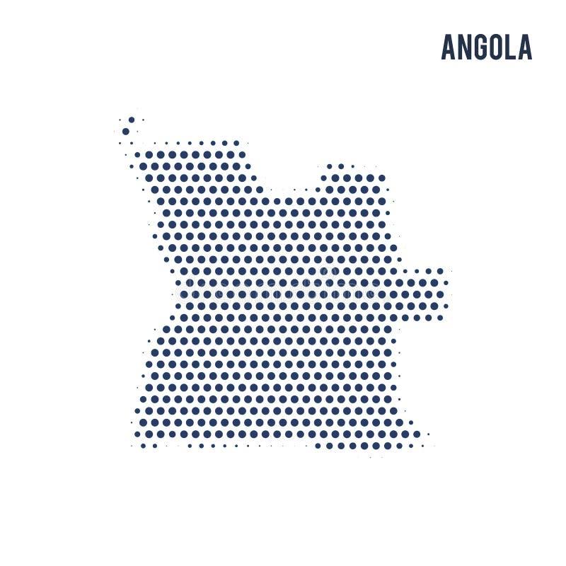 Kropkowana mapa Angola odizolowywał na białym tle royalty ilustracja