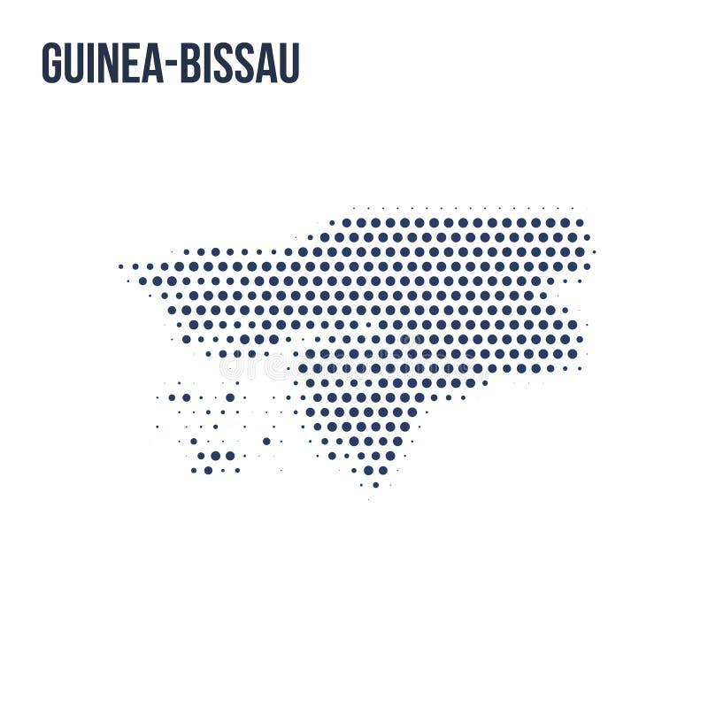 Kropkowana mapa Bissau odizolowywał na białym tle royalty ilustracja