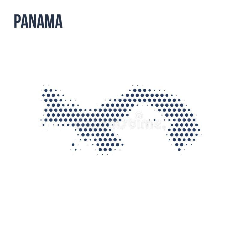 Kropkowana mapa Panama odizolowywał na białym tle ilustracja wektor