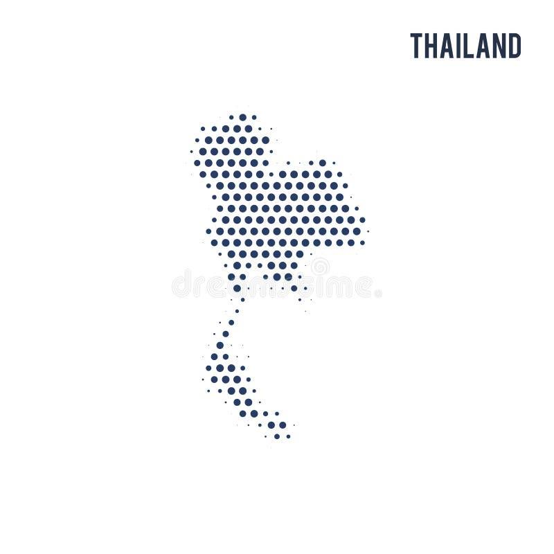 Kropkowana mapa Tajlandia odizolowywał na białym tle ilustracji