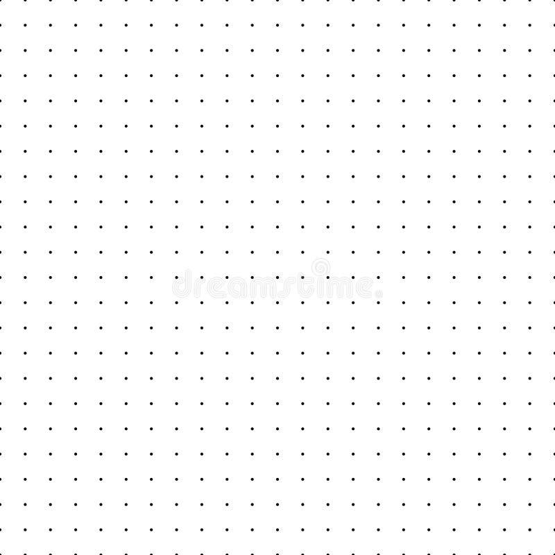 Kropkowana siatka kropki deseniują bezszwowego Uproszczony matrycowy wektorowy napełnianie royalty ilustracja