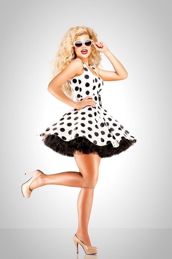 Kropkowana suknia zdjęcie stock