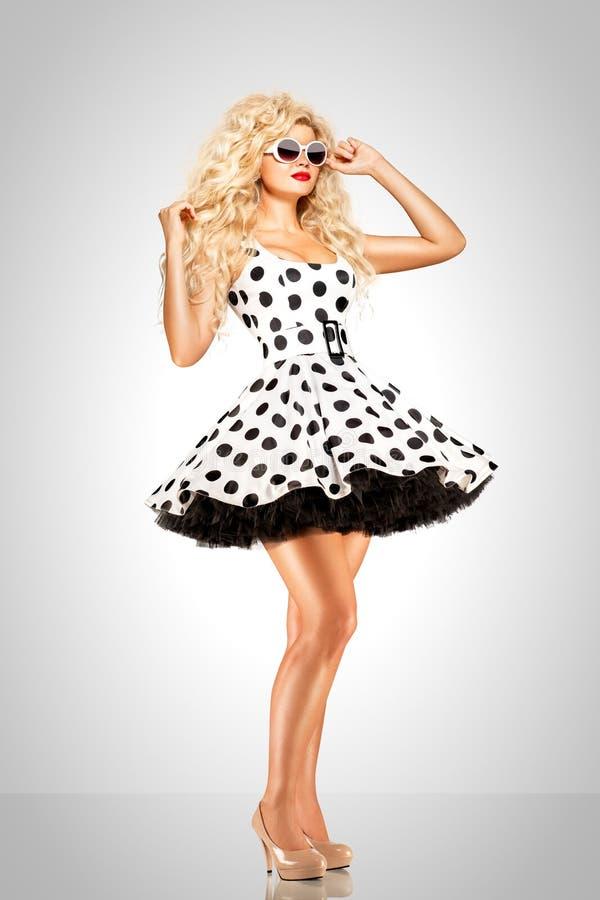 Kropkowana suknia fotografia stock