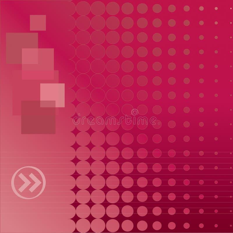 kropkowana tło czerwień ilustracja wektor