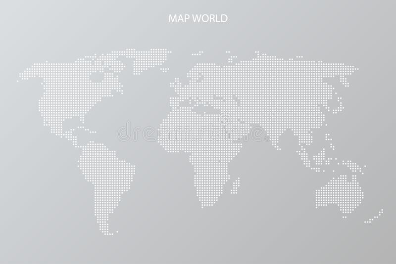 Kropkowanego Światowej mapy szablonu środków ogólnospołeczna podróż royalty ilustracja