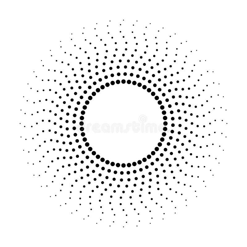 Kropkowany abstrakcjonistyczny monochromatyczny tło Halftone wz?r ilustracja wektor