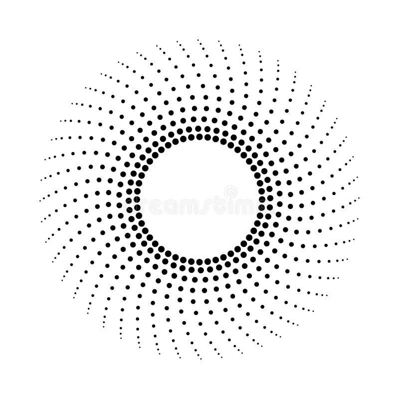 Kropkowany abstrakcjonistyczny monochromatyczny t?o Halftone wz?r royalty ilustracja