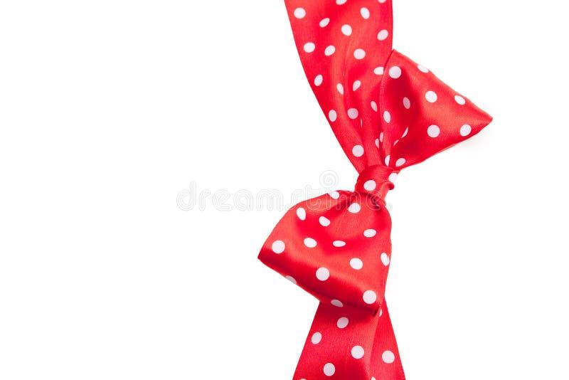 Kropkowany czerwony faborek fotografia royalty free