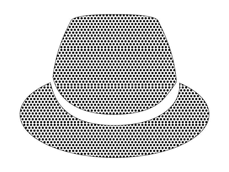 Kropkowany Deseniowy obrazek modnisia Fedora kapelusz royalty ilustracja