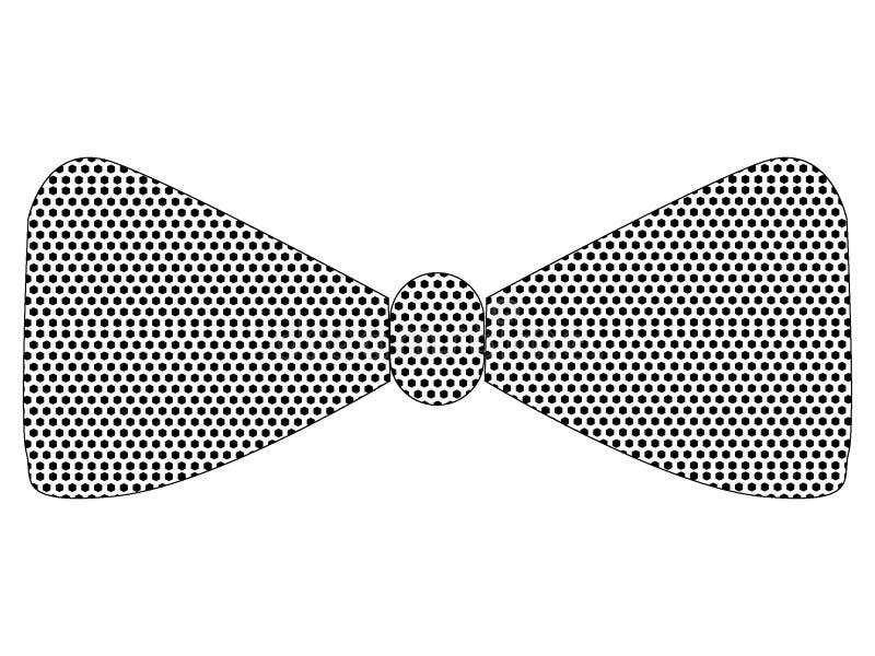 Kropkowany Deseniowy obrazek modnisia krawat royalty ilustracja