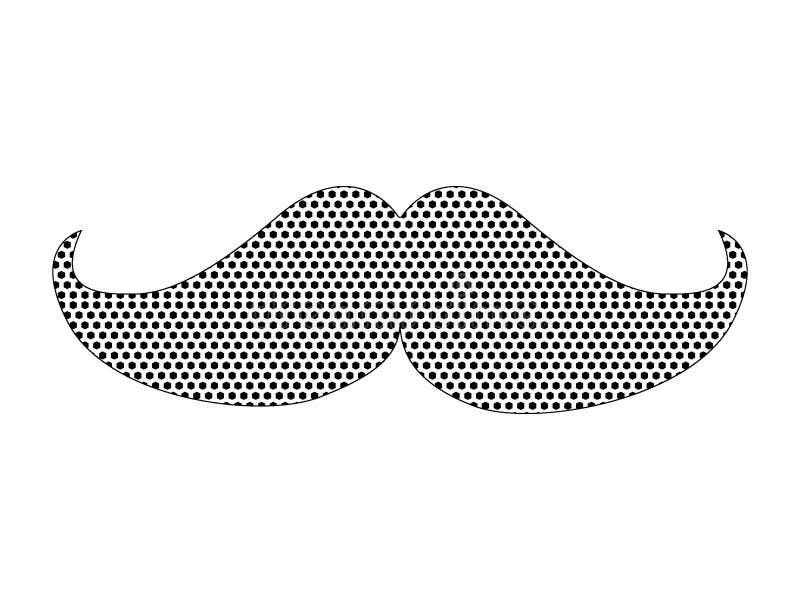 Kropkowany Deseniowy obrazek modnisia wąsy ilustracji