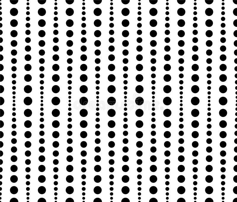 Kropkowany, kropka wzór, tło Płynnie powtarzalni oba sid royalty ilustracja
