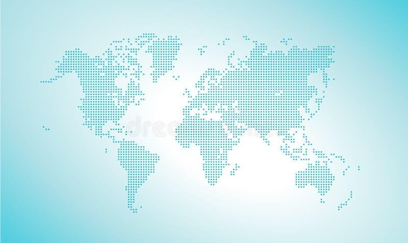 kropkowany mapa świata wektora royalty ilustracja