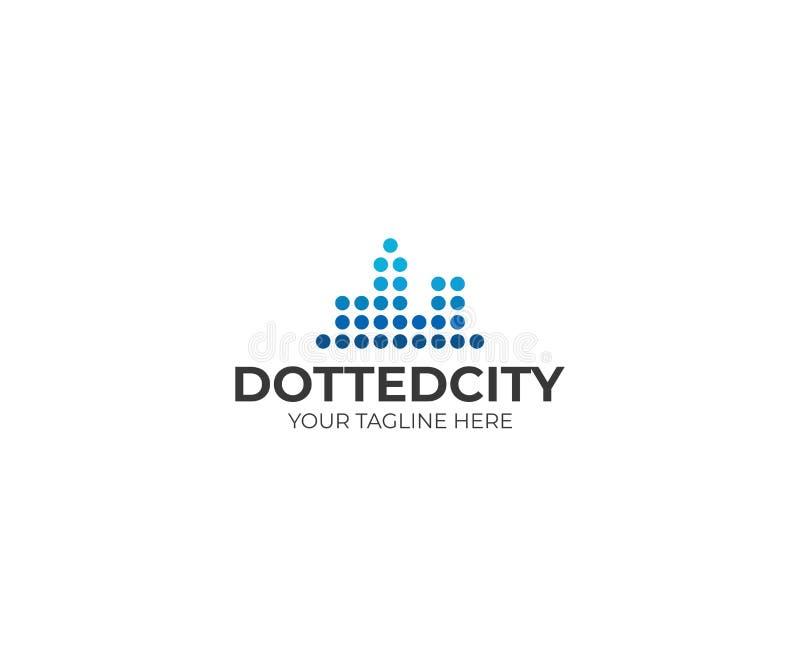 Download Kropkowany Miasto Loga Szablon Linia Horyzontu Wektorowy Projekt Ilustracja Wektor - Ilustracja złożonej z budynek, budowa: 106921911