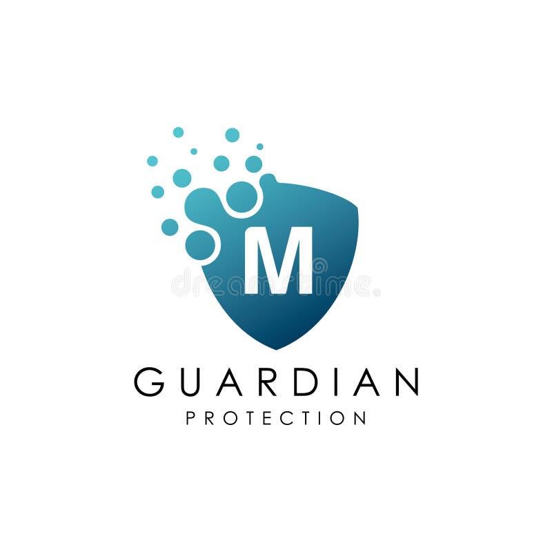 Kropkowany osłona listu M logo royalty ilustracja