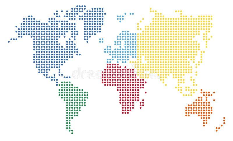 Kropkuje światową mapę ilustracja wektor