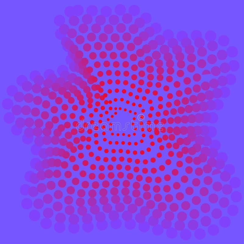 Kropkuje abstrakcjonistycznego t?o, purpury i karmazyny, royalty ilustracja