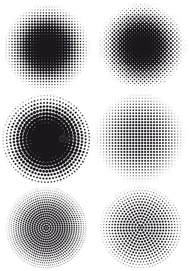 kropkuje kropkującego halftone ilustracja wektor