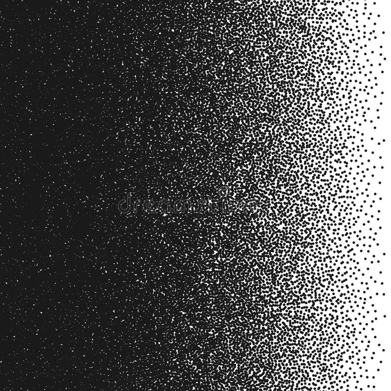 kropkuje przypadkowego również zwrócić corel ilustracji wektora Abstrakcjonistyczny gradientowy element Pointylizmu wzór Monochro royalty ilustracja
