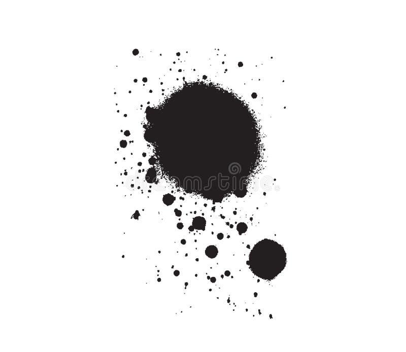 kropla bryzgająca plama ilustracji