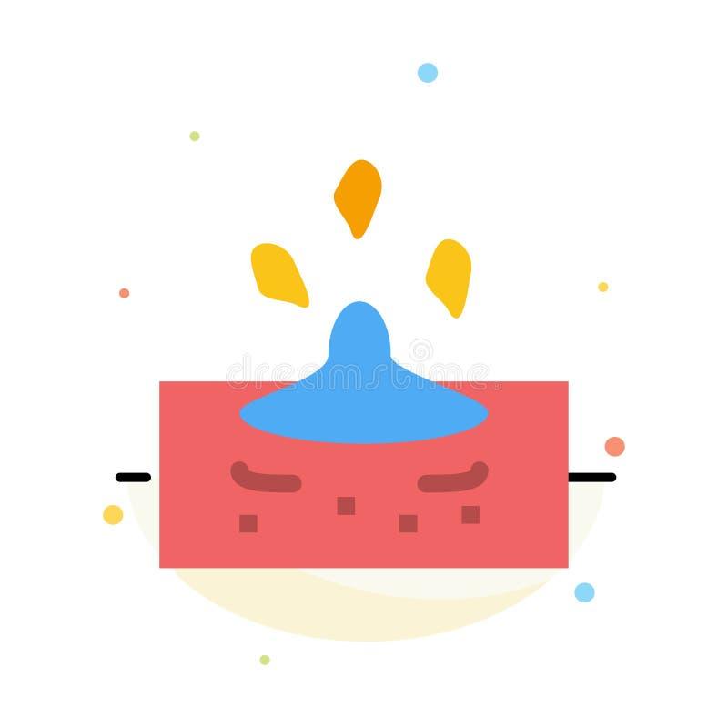 Kropla, deszcz, Dżdżysty, Wodny Abstrakcjonistyczny Płaski kolor ikony szablon, ilustracja wektor