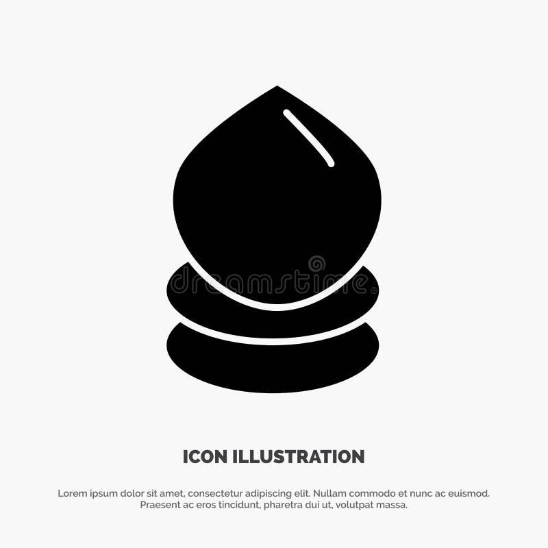 Kropla, Eco, ekologia, środowisko glifu ikony stały wektor ilustracji