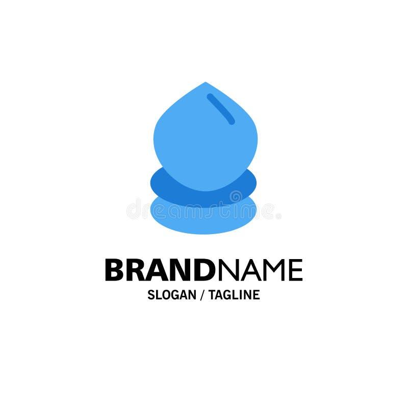 Kropla, Eco, ekologia, środowisko logo Biznesowy szablon p?aski kolor ilustracja wektor