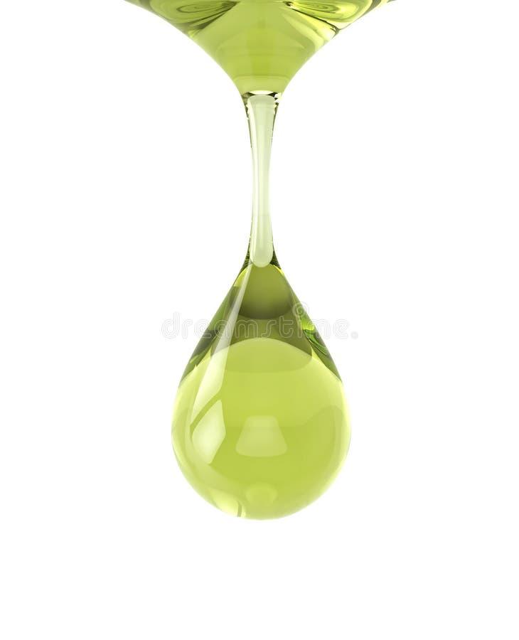 Kropla jarzynowy olej ilustracji
