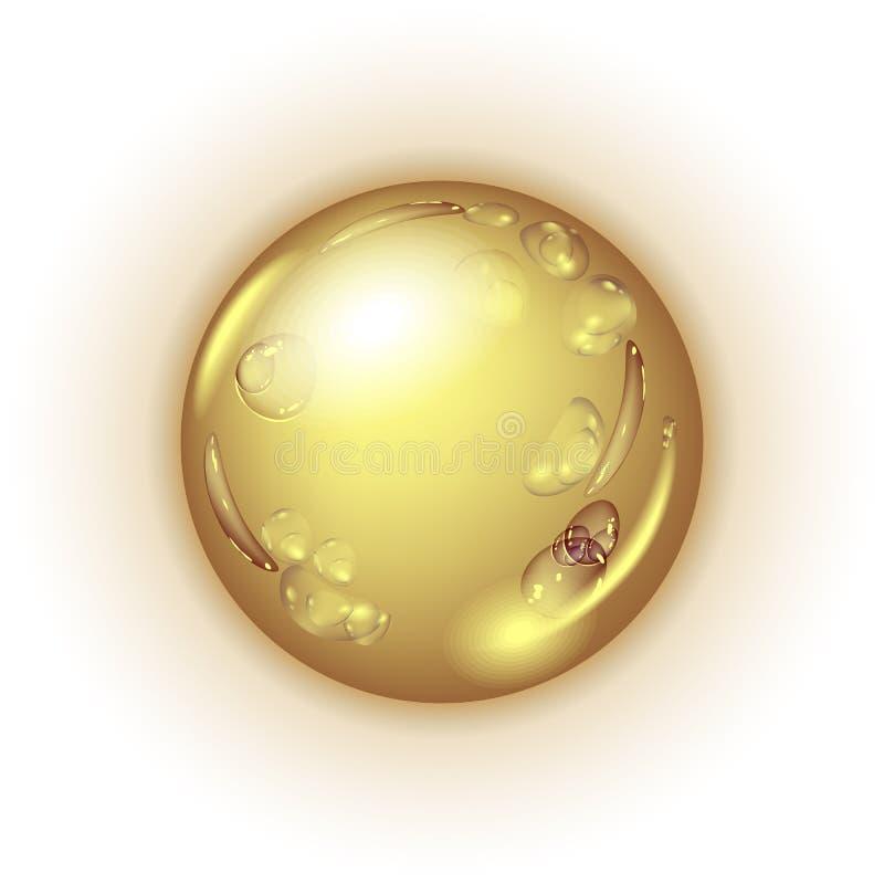 Kropla olej lub miód ilustracja wektor