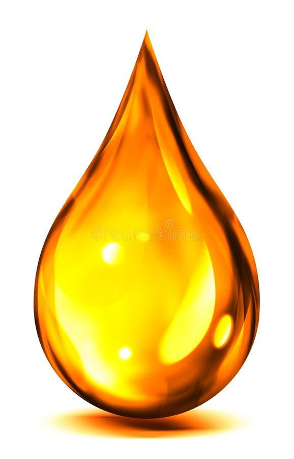 Kropla olej lub paliwo ilustracji