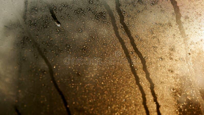 Kropla woda na szkle zdjęcia stock