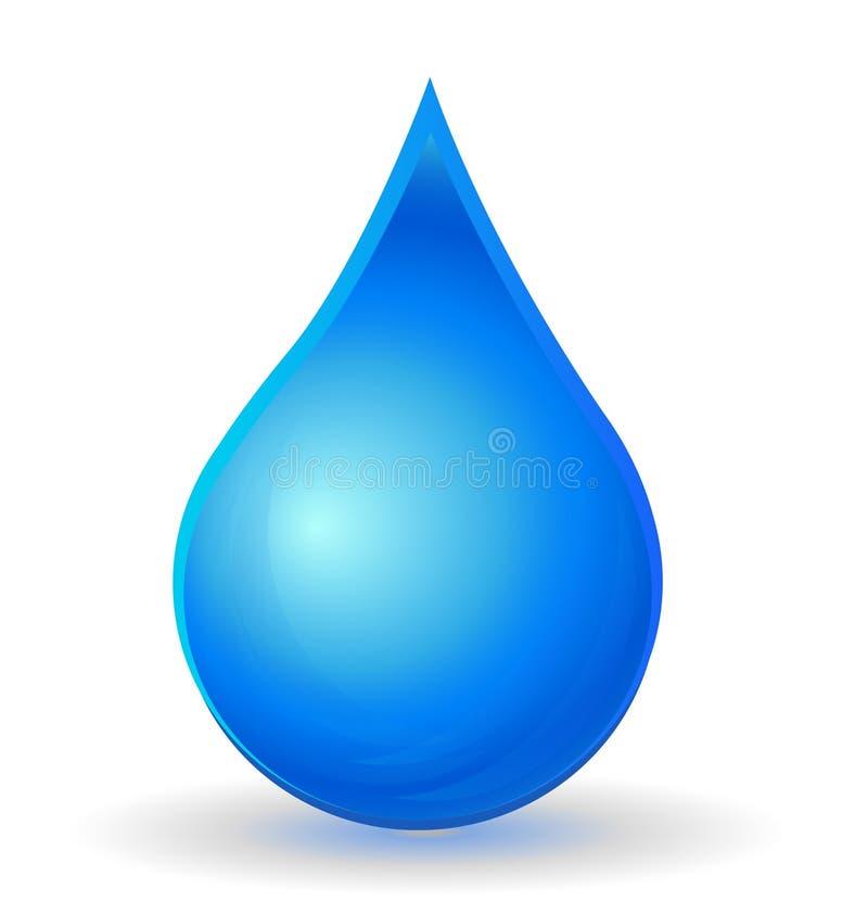 Kropla woda z żywym kolorem ilustracja wektor