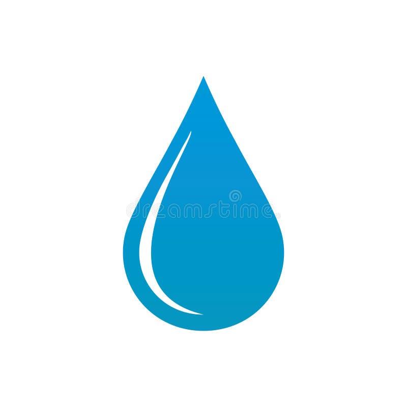 Kropla wodny ikona wektor eps10 Opadowa ikona Wodny znak ilustracji