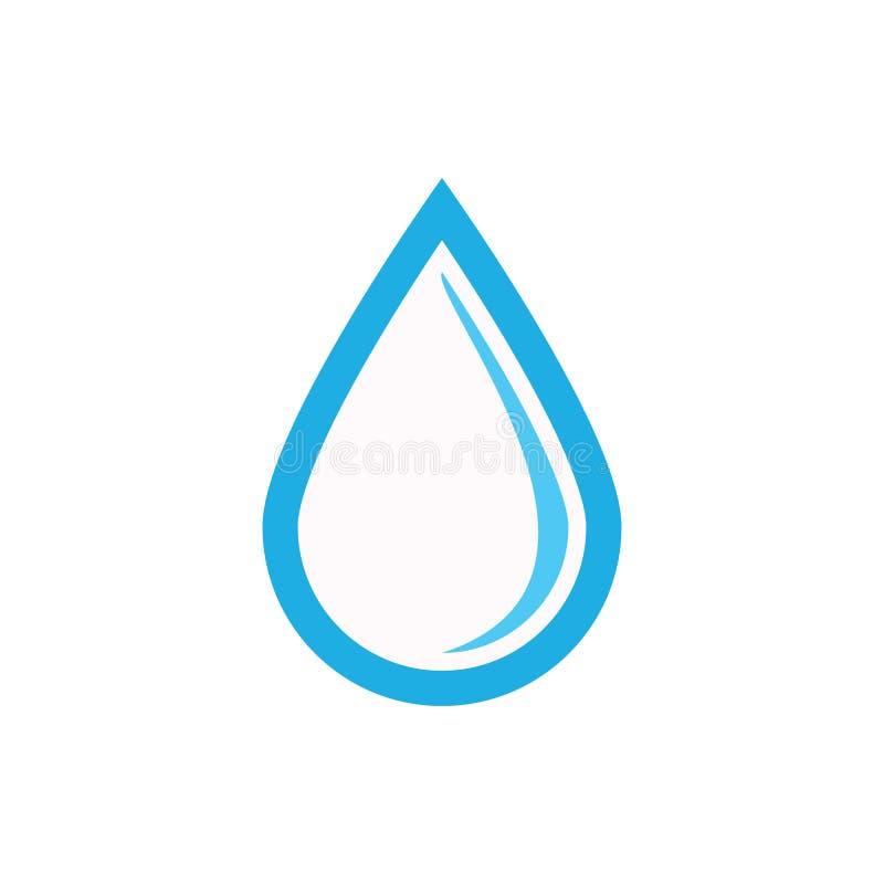 Kropla wodny ikona wektor eps10 Opadowa ikona Wodny znak ilustracja wektor