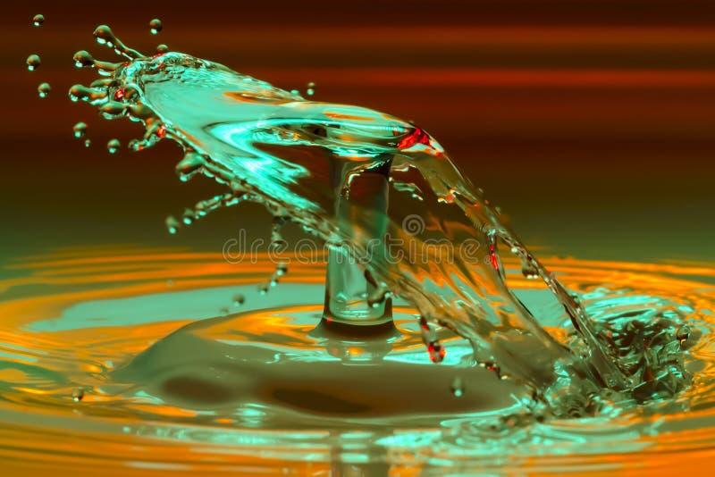 kropla zamrożona woda obrazy stock