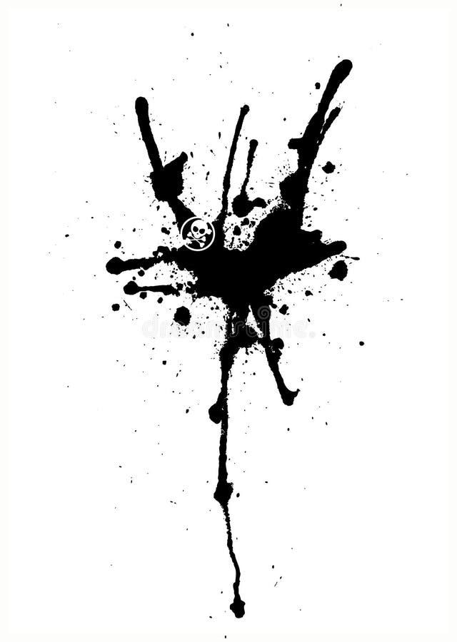 krople czarnego spray abstrakcyjne wektora royalty ilustracja