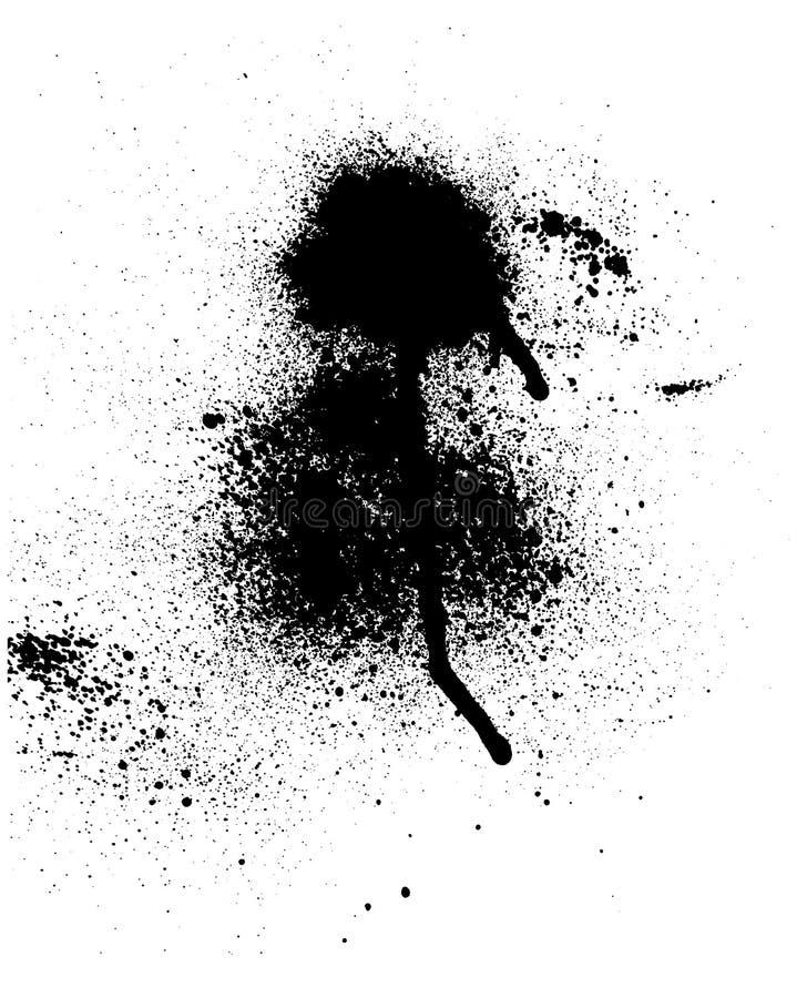 krople czerni ilustracji