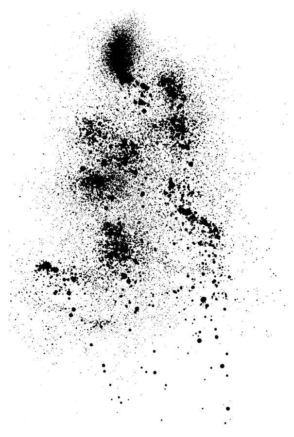 krople czerni royalty ilustracja