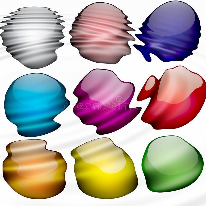 krople farbę. ilustracji