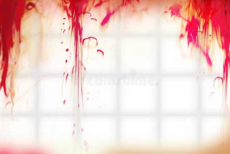 Krople krew na łazienki ścianie obraz stock