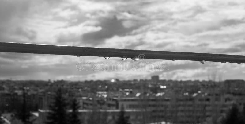 Krople nad Madryt w pejzażu miejskim zdjęcie royalty free
