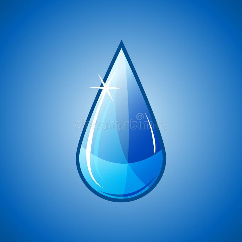 krople wody spada niebieski royalty ilustracja