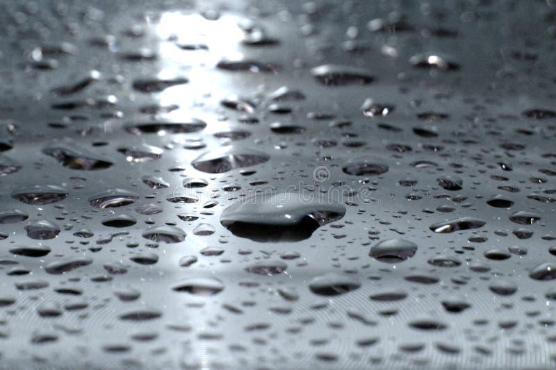 krople wody ze srebra zdjęcie stock
