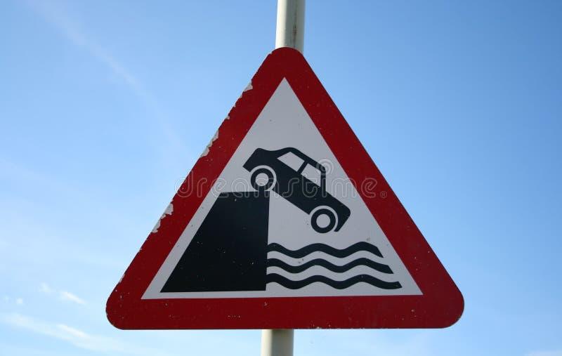 krople znak niebezpieczeństwa obrazy stock